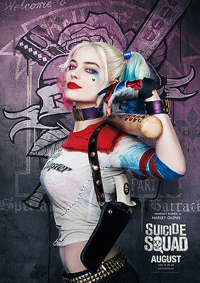 Movie Poster Print: Suicide Squad - Harley Quinn *DISCOUNTED OFFERS* A3 / A4