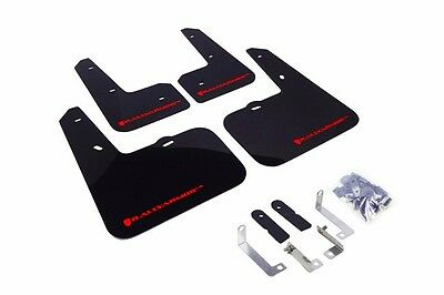 Rally Armor Black Mud Flap w/ Red Logo For 12-16 Hyundai Veloster