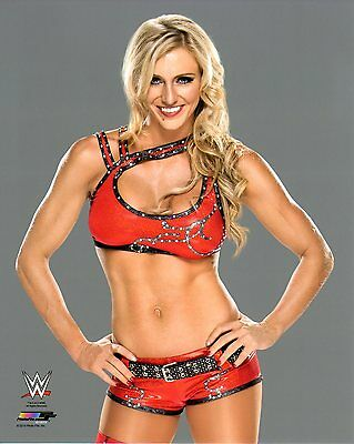 """WWE PHOTO CHARLOTTE FLAIR 8x10"""" OFFICIAL NXT WRESTLING PROMO BRAND NEW"""