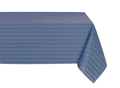 """Striped """"Spill-Proof"""" Wrinkle Free Fabric Tablecloth - Assorted Colors & Sizes"""