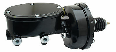 """Universal 7"""" Single Power Brake Booster & Wilwood Style Oval Master Cylinder"""
