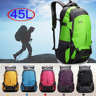 Waterproof Travel Hiking Camping Backpack Luggage Rucksack Trekking Bag 45L UK01