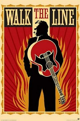 Johnny Cash - Walk The Line - Rare New Poster