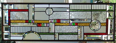 Stained Glass window hanging 30 2/4 X 10 3/4""