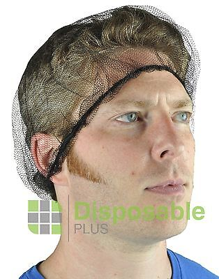 DISPOSABLE PLUS Durable Nylon Honeycomb Hairnets, Brown 100 Qty Pack, Hair Nets