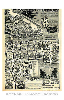 New Hot Rod Poster 11x17 Ed Roth Ad Vintage Robert Williams Art T Shirts