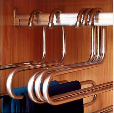 Multi-function 5 Layers S -Type Pants Hanger Trousers Holder Scarf Towel Rack