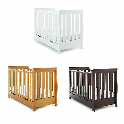 Obaby Baby / Bedroom Lincoln Mini Sleigh Cot Bed / Junior Bed - Birth To 4 Years