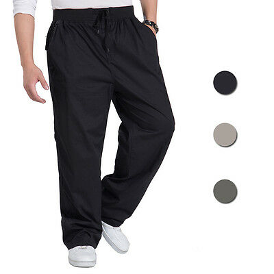 Casual Men's Cargo Pants Joggers Relaxed Skate Workout Trousers XL-6XL Sportwear