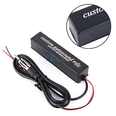 12V Universal Car Stereo Radio Electronic Hidden Antenna Aerial FM/AM Amplified