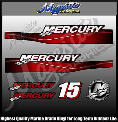 MERCURY - 15hp - OUTBOARD  DECALS