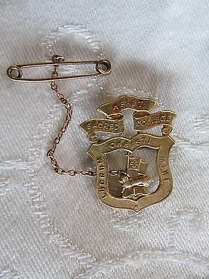 Vintage 9ct Gold Stokes School Badge Sacred Heart College Lucrum Christi Mihi