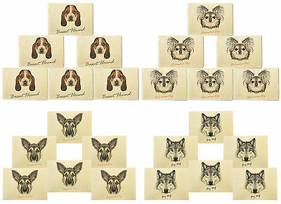 Portraits of Dog Printed Canvas Table Mats Placemats 13x19 Inch Set of 6