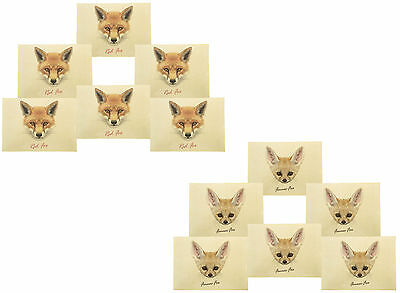 Face of Fox Printed Canvas Table Mats Placemats 13x19 Inch Set of 6