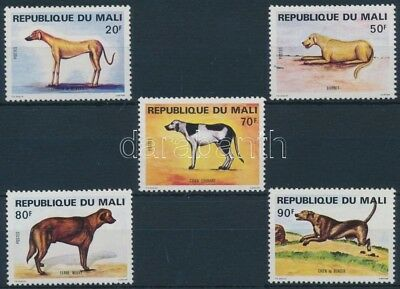 Mali stamp Dogs set + 5 FDC MNH 1979 Mi 728-732 WS198582