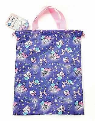 Sanrio Little Twin Stars Drawstring Shopping Bag Water Repellent Registered Ship