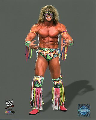"THE ULTIMATE WARRIOR WWE PHOTO STUDIO 8x10"" OFFICIAL WRESTLING PROMO"