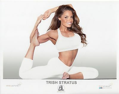 TRISH STRATUS WWE PHOTO 8x10 OFFICIAL YOGA STRATUSPHERE PROMO PICTURE