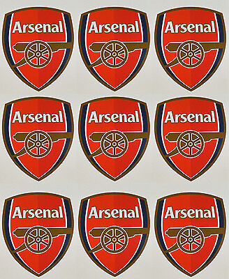 9 x Arsenal Football Club Stickers