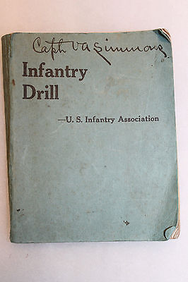 Original 1925 Dated U.S. Army Infantry Drill Booklet, Named to Front Cover