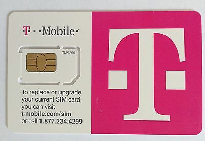 T-Mobile Regular Standard LTE Sim Card New 2FF Unactive US Travel Tmobile Blank
