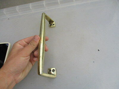 Antique Solid Brass Door Handle Shop Pull Architectural Salvage Old Vintage
