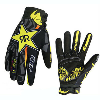 2016 Mens Racing Cycling Motocross Full Finger Gloves MTB DH Bike Bicycle Gloves