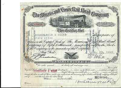 1945 Morris and Essex RR Stock Certificate