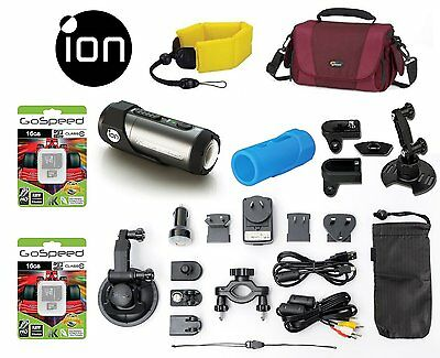 iON Speed Pro 14MP 1080p Full HD Action Camera with WiFi Pod