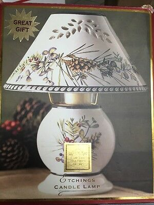 Lenox Etchings Candle Lamp Artist Catherine Mcclung  - Excellent Condition
