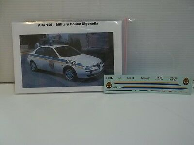 delta model,decals sc1/43 x alfa 156 military police sigonella