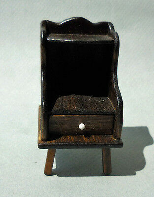 DOLLHOUSE MINIATURE ~ HAND MADE 'WALNUT' END TABLE by FRED THUM
