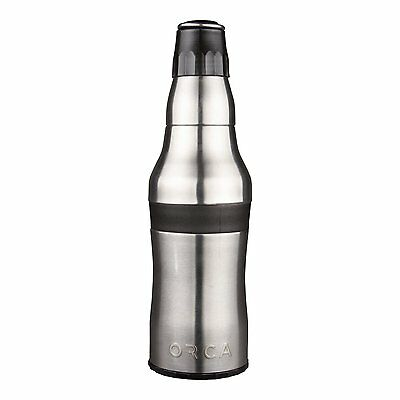 Orca Rocket 12 oz Stainless Steel Bottle/Can Koozie, Cooler w/ Bottle Opener