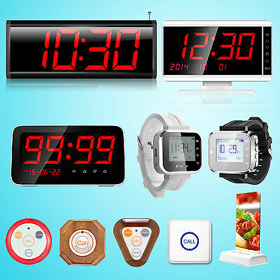 KERUI Display Watch Pager Wireless Waiter Service Calling System DIY Cafe lot