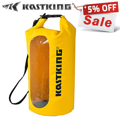 [New Year Sale] 10L/20L/30L Yellow Waterproof Floating Boating Kayaking Dry Bag