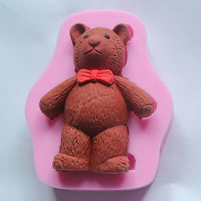 3D Standing Teddy Bear Silicone Mould Soap Candle Chocolate Fondant Mold DIY