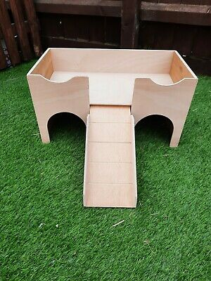 New Design Two Storey Guinea Pig Castle /shelter (Comes Ready Assembled).