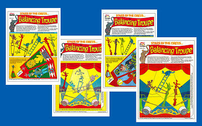 Repro R&l Balancing Troupe - Top Quality Repros Of *all Four* Cereal Toy Panels