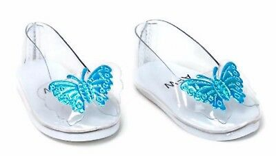 "Cinderella's Slipper Shoes w/Butterflies made for 18"" American Girl Doll Clothes"