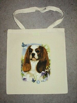 Cavalier King Charles Spaniel Butterfly Design Tote Bag