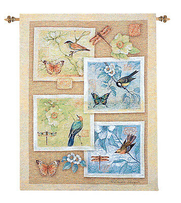 Songbirds ~ Cardinal//Blue Jay//Robin Tapestry Wall Hanging