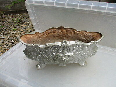 Antique Cast Iron Garden Trough Tub Planter Jardiniere Plant Pot French Old 1800