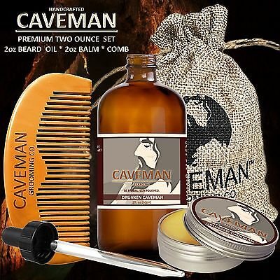Hair Care & Styling Aftershave & Pre-shave Hand Crafted Tobacco Beard Oil Conditioner 2 Oz By Caveman® Beard Care Shave