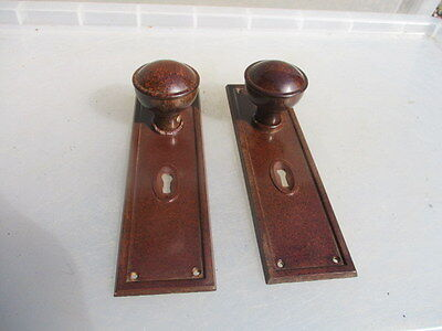 Vintage Bakelite Door Knobs Handles Art Deco 1930's Architectural Antique Old