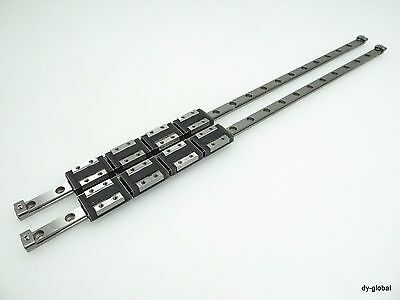 THK Miniature Linear Bearing 4RSR9ZM+400L LM Guide 2Rail 8block CNC router fast