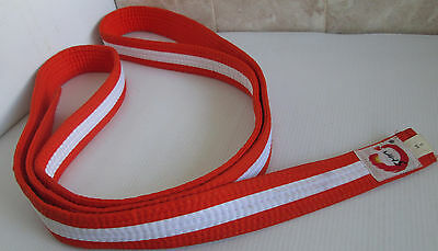 Martial Arts Orange White Stripe Belt SMA Size 3 Karate Taekwondo