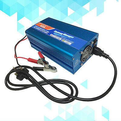 12V Leisure Battery Charger 40 Amp 240v - 12v 40A Boat 4WD Caravan Motorcycle