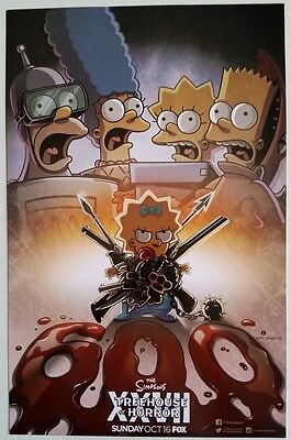 SDCC Comic Con 2016 Handout FOX The Simpsons Treehouse of Horror Poster