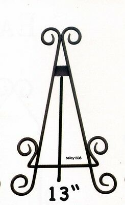 "13""  BLACK Scroll METAL Easel Plate Stand Tripar 55813 HIGH QUALITY"