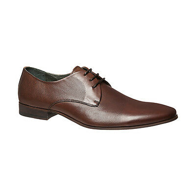 Julius Marlow Initiate Mens Leather Work Casual Dress Lace up Shoe Brown